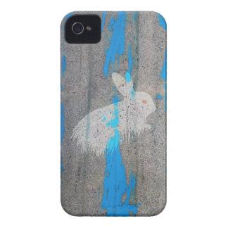 Pintada del conejito del conejo Case-Mate iPhone 4 cárcasa