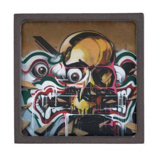 Pintada del cráneo de Bangkok Cajas De Recuerdo De Calidad