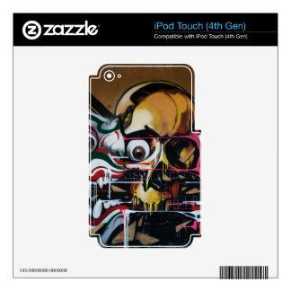 Pintada del cráneo de Bangkok Calcomanía Para iPod Touch 4G