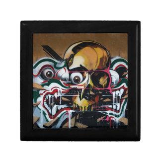 Pintada del cráneo de Bangkok Joyero Cuadrado Pequeño