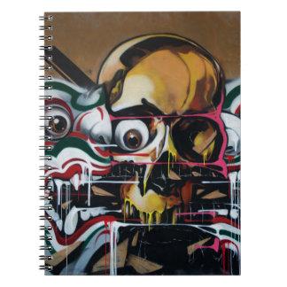 Pintada del cráneo de Bangkok Libro De Apuntes Con Espiral