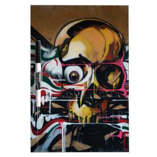 Pintada del cráneo de Bangkok Pizarras Blancas De Calidad
