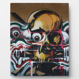 Pintada del cráneo de Bangkok Placas De Madera