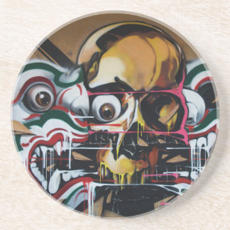 Pintada del cráneo de Bangkok Posavaso Para Bebida