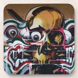 Pintada del cráneo de Bangkok Posavasos