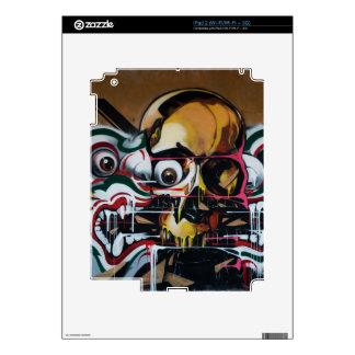 Pintada del cráneo de Bangkok Skin Para El iPad 2