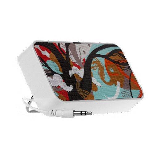 Pintada del elefante iPod altavoces