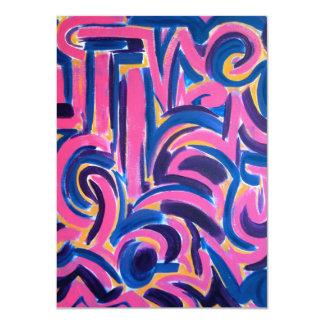 Pintada del griego clásico - arte abstracto invitación