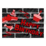 Pintada del Grunge del feliz cumpleaños Felicitacion