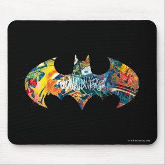 Pintada del logotipo Neon/80s de Batman Alfombrillas De Ratón