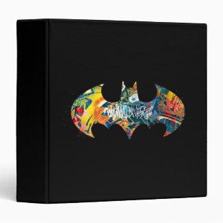 "Pintada del logotipo Neon/80s de Batman Carpeta 1 1/2"""