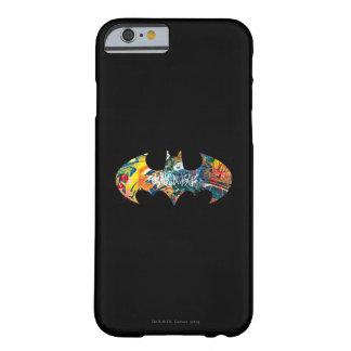 Pintada del logotipo Neon/80s de Batman Funda Para iPhone 6 Barely There