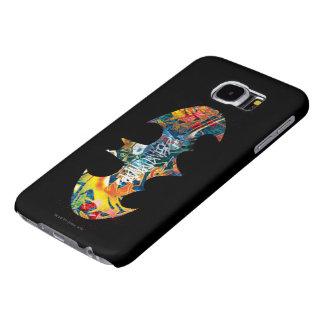 Pintada del logotipo Neon/80s de Batman Fundas Samsung Galaxy S6