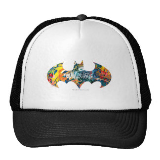 Pintada del logotipo Neon/80s de Batman Gorros Bordados