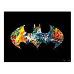 Pintada del logotipo Neon/80s de Batman Postales