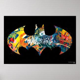 Pintada del logotipo Neon/80s de Batman Póster