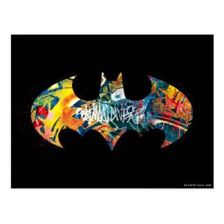 Pintada del logotipo Neon/80s de Batman Postal