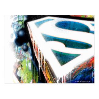Pintada del neón del superhombre postales