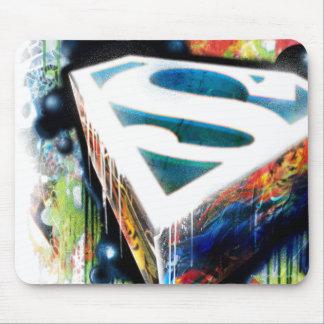 Pintada del neón del superhombre tapete de raton