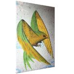 Pintada del pájaro, Basilea, Suiza Lona Envuelta Para Galerías