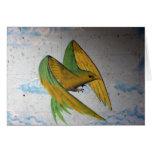 Pintada del pájaro, Basilea, Suiza Tarjeta