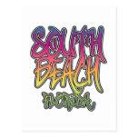 Pintada del sur de la playa postales