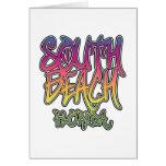 Pintada del sur de la playa tarjeta