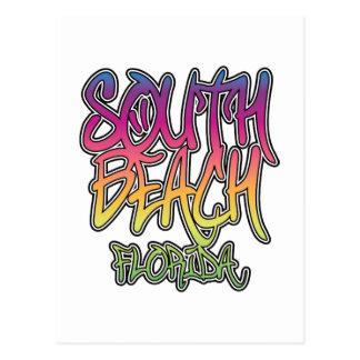 Pintada del sur de la playa tarjeta postal