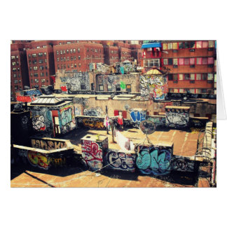 Pintada del tejado en Chinatown Felicitación