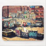 Pintada del tejado en Chinatown Tapete De Raton