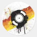 Pintada del vinilo - disc jockey de registro de DJ Etiquetas