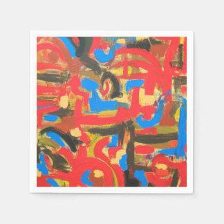 Pintada en el ático - arte moderno pintado a mano servilleta desechable
