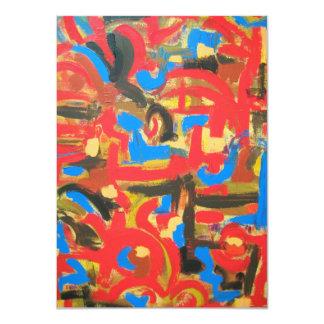 """Pintada en las pinceladas Ático-Abstractas del Invitación 4.5"""" X 6.25"""""""