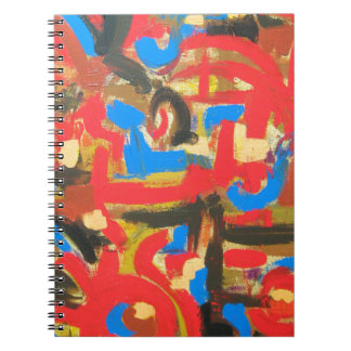Pintada en las pinceladas Ático-Abstractas del Libros De Apuntes
