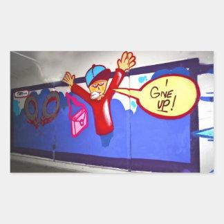 Pintada en un subterráneo doy para arriba a los rectangular altavoces