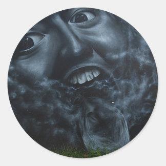 Pintada impresionante de la cara - pegatina
