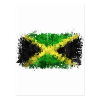 Pintada jamaicana de la bandera postal