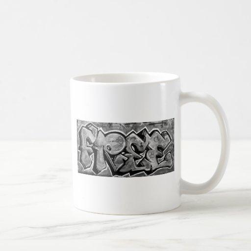 Pintada libre tazas de café