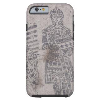 Pintada medieval de los caballeros funda de iPhone 6 tough