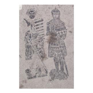 Pintada medieval de los caballeros papelería