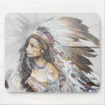 Pintada nativa Mousepad de la mujer Tapetes De Ratón