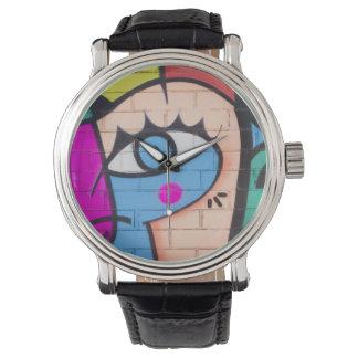 """Pintada """"ojo """" reloj de mano"""