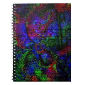 Pintada oscura del delirio libretas espirales