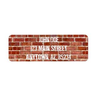 Pintada personalizada pared de ladrillo con etiqueta de remitente