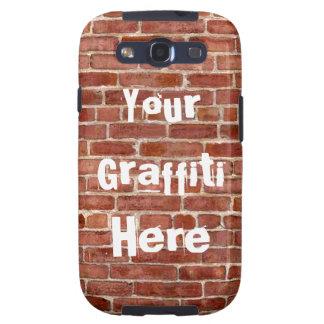 Pintada personalizada pared de ladrillo galaxy SIII cárcasas
