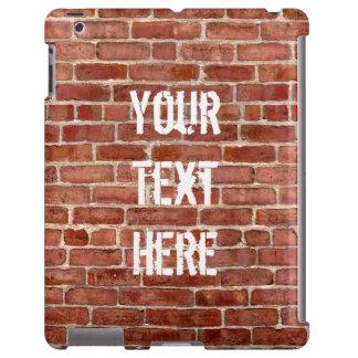 Pintada personalizada pared de ladrillo funda para iPad