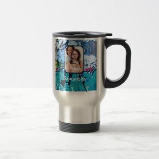 Pintada personalizada taza de viaje de acero inoxidable