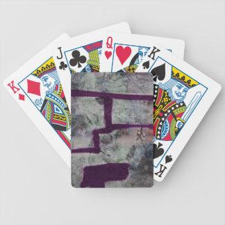 Pintada púrpura abstracta cartas de juego