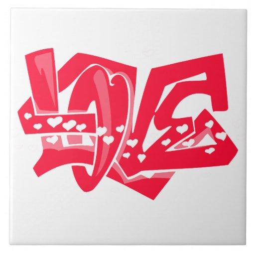 Pintada roja del amor del escarlata azulejo
