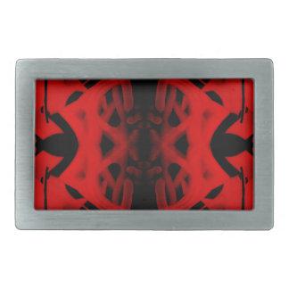 Pintada roja y negra del caleidoscopio hebillas cinturón rectangulares